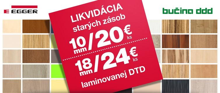 Likvidácia starých zásob laminovanej DTD