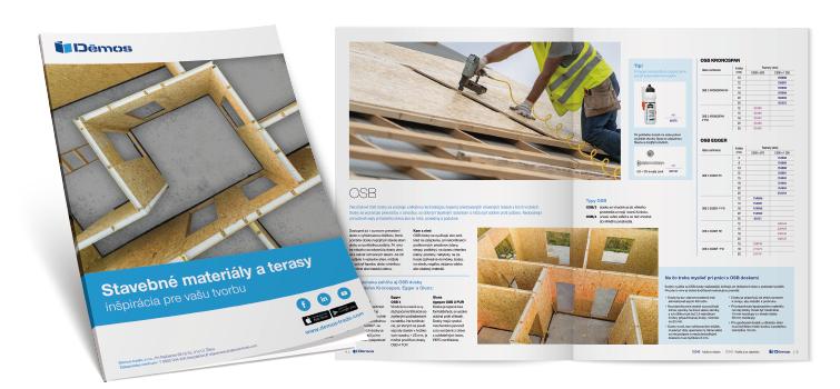 Brožúra stavebné materiály a terasy