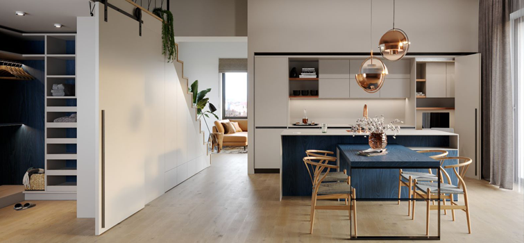 Nový interiér č.2: mezonetový byt