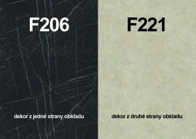 Zástena F206 ST9/ F221 ST87 4100/640/9,2