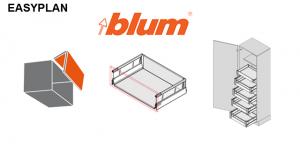BLUM - EASYplan 300 - výpočet hodnôt pre spracovanie kovania