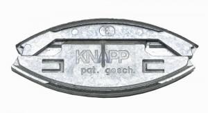 KNAPP K049 SILVER zásuvný spoj (zliatina hliníka a zinku)