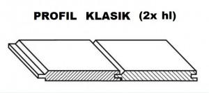 PALUBOVKY RT SMREK Klasik obojstranne hladká 4000/96/19