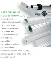 REHAU metallic-line set20mm 900/1500 hliník