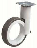 OGTM Koliesko Rotola 90 mm, hliník, guma sivá