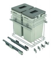 VIBO PKBMM402MG odpadkový kôš s tl. 2x20
