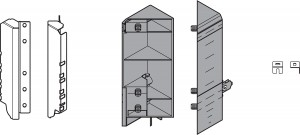BLUM ZSF.345E.D1 Space Corner Antaro D pevné nikel