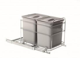 VIBO PET40FC odpadkový kôš 2x16 L 400mm
