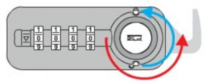 LEHMANN Zámok číselný FIX 57.01 ľavý Z-1, 4 znaky, B, čierny
