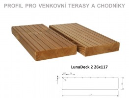 TERASY ThermoWood LunaDeck2 26/117/4200