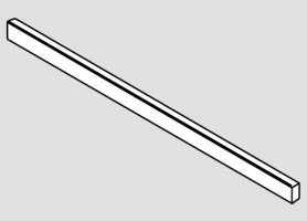 BLUM ZR7.1080U čelný reling Legrabox sivý