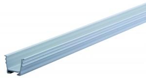 REHAU vodiaca lišta 12 mm na zafrézovanie sivá